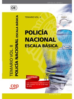 Policía Nacional Escala Básica. Temario Vol. II
